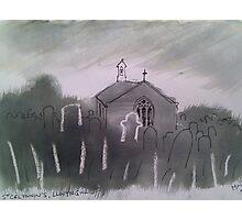 'Church of St Celynnin, Llwngwril, Gwynedd' Photographic Print