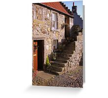 Sunny stairs in Falkland Greeting Card