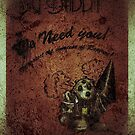 """We need you"" WORN Bioshock poster by HaydenII"