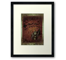 """We need you"" WORN Bioshock poster Framed Print"