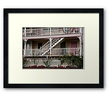 Decks, Railings And Stairs Framed Print