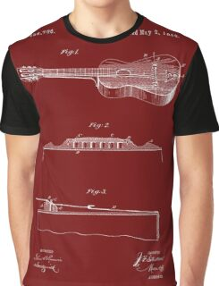 1893 Stratton Guitar Patent Art Graphic T-Shirt