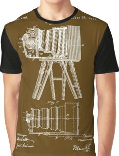 1885 View Camera Patent Art Graphic T-Shirt