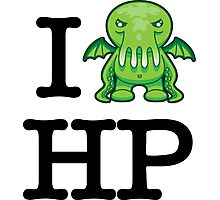 I Love HP Lovecraft - Cthulhu Photographic Print