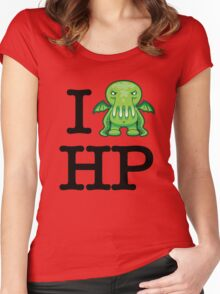 I Love HP Lovecraft - Cthulhu Women's Fitted Scoop T-Shirt