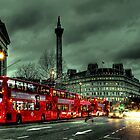 Red buses and Routemaster by Jasna
