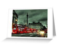 Red buses and Routemaster Greeting Card