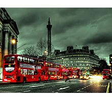 Red buses and Routemaster Photographic Print