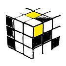 Rubik Cube Yellow by garts