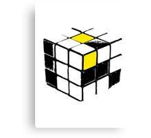 Rubik Cube Yellow Canvas Print