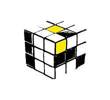 Rubik Cube Yellow Photographic Print