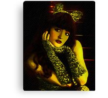 Lonely Despite The Catsuit Canvas Print