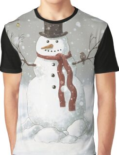 Christmas Snowman Graphic T-Shirt
