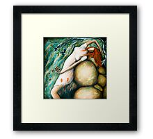Throw  your fire opals into the sea Framed Print