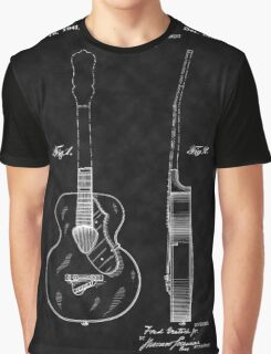 Gretch Guitar 1941 Patent-BK Graphic T-Shirt