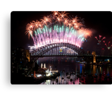 Simply The Best ! - Sydney NYE Fireworks  #2 Canvas Print