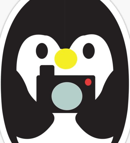 Penguin with Camera Sticker
