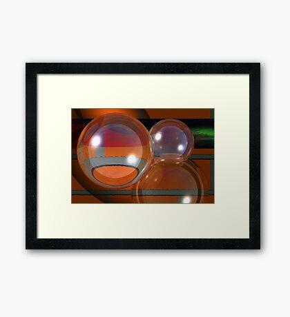 Bubbles on bricks Framed Print