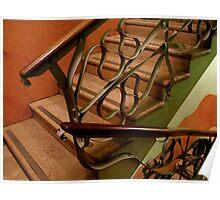 Interior stairs of la pedrera Poster