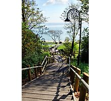 Steps Down To The Sea ~ Lyme Regis Photographic Print
