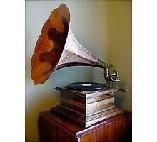 Gramophone Photographic Print