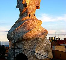 Tower of La Pedrera by Honeyboy Martin