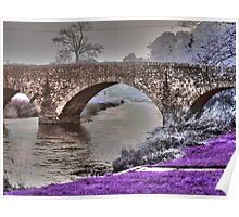 Bridge Over River Bann (Psychadelic) Poster