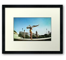 Handstand in Barcelona Framed Print