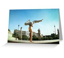 Handstand in Barcelona Greeting Card