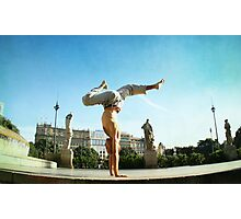 Handstand in Barcelona Photographic Print