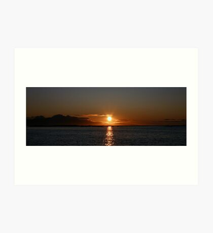 Sunset at sea Art Print