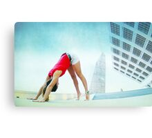 Downward dog at the Forum, Barcelona Canvas Print