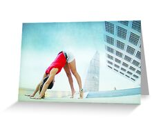 Downward dog at the Forum, Barcelona Greeting Card
