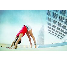 Downward dog at the Forum, Barcelona Photographic Print