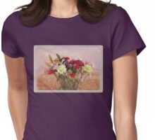 Bouquet in a Window ~ Painting Style Womens Fitted T-Shirt