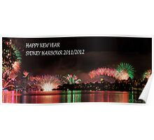 Sydney Harbour, New Year's Eve 2011-2012 Poster