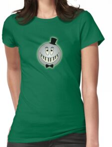 Vintage Keyboard Smile Cartoon Womens Fitted T-Shirt