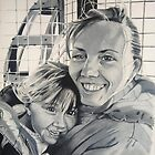 Wife & daughter at the top of Blackpool tower by lee gordon