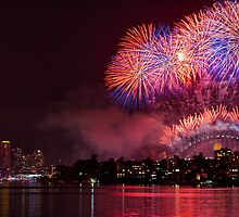 New Year's Eve, Sydney Harbour 2011-2012 by Deanna  Brown