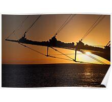 Bowsprit Sunset Poster