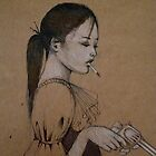Smoking Girl With A Gun by John Dicandia  ( JinnDoW )