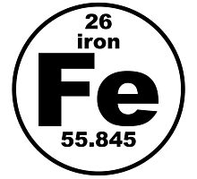 Fe - Iron Photographic Print