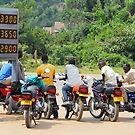 Boda boda guys, Uganda, Africa by Hannah Nicholas
