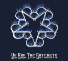 Fiery Chrome Black Veil Brides Star - We Are The Outcasts One Piece - Long Sleeve