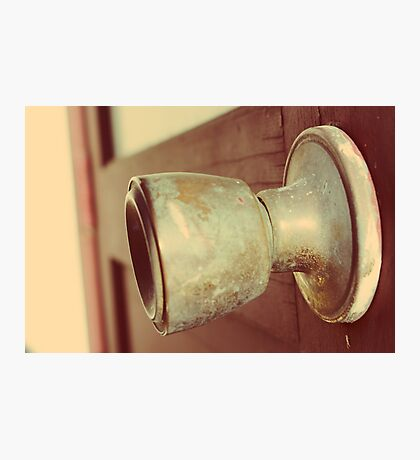 Door knob Photographic Print