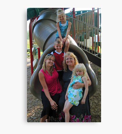 Family Day - Punxsutawney Playgound, PA Canvas Print