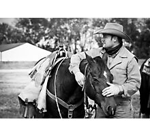 Cowboy & His Partner Photographic Print