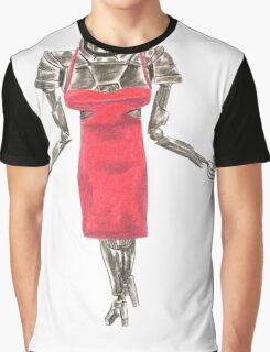 Red Dress Cylon Graphic T-Shirt