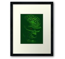 Radiation Nation (with text) Framed Print