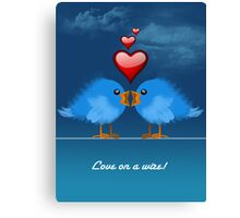 LOVE ON A WIRE Canvas Print